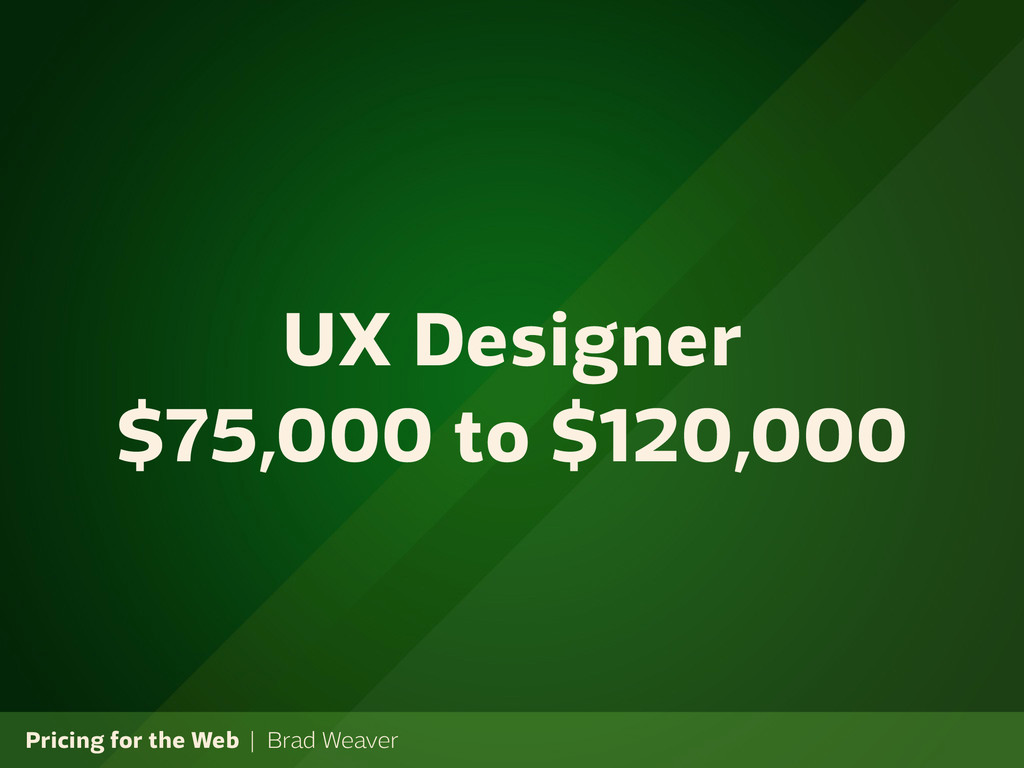 Pricing for the Web | Brad Weaver UX Designer $...