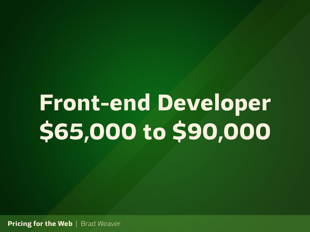 Pricing for the Web | Brad Weaver Front-end Dev...