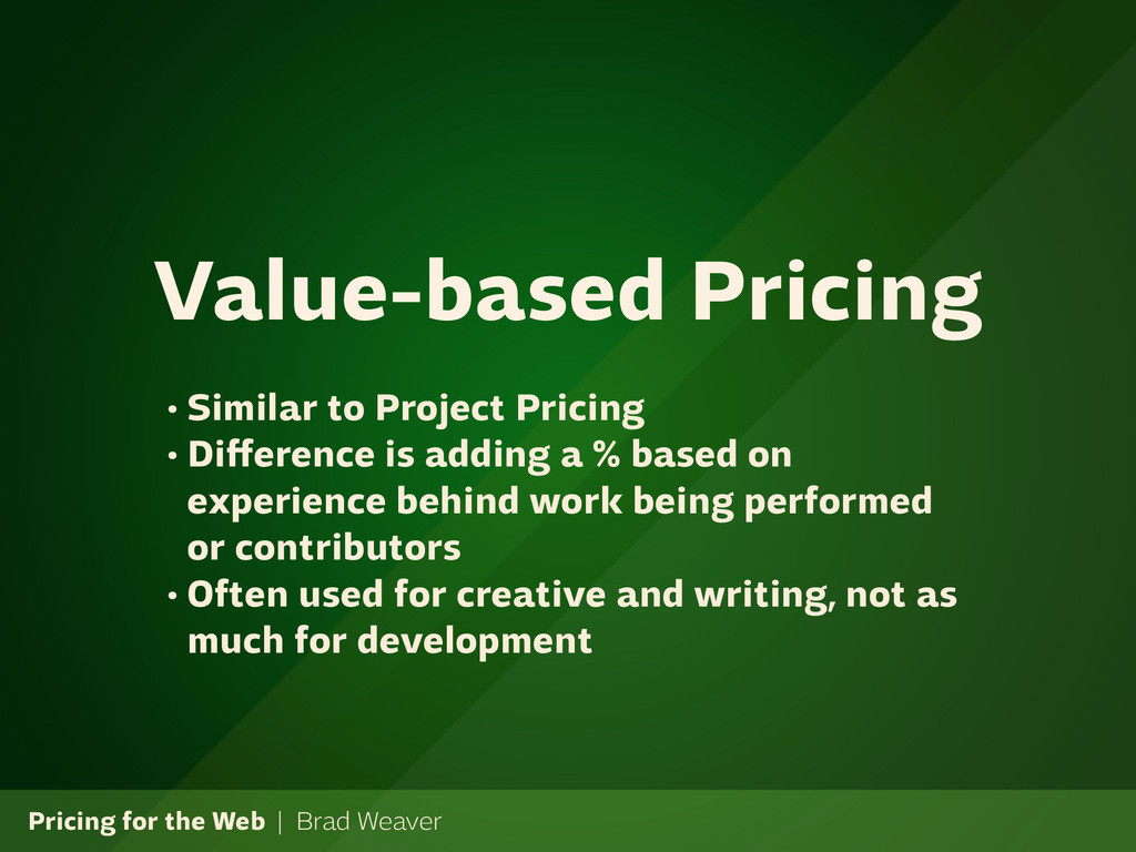 Pricing for the Web | Brad Weaver • Similar to ...