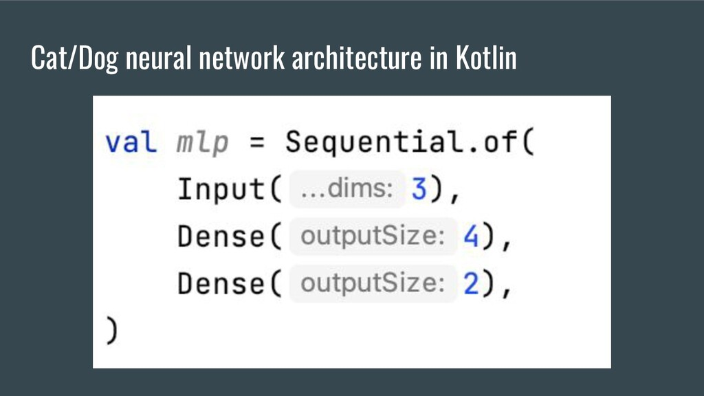 Cat/Dog neural network architecture in Kotlin