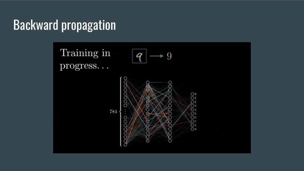 Backward propagation