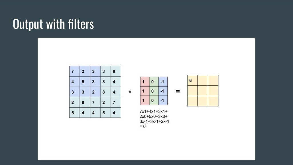 Output with filters