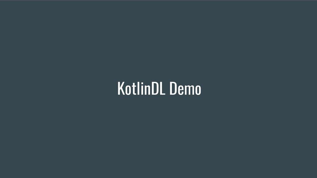 KotlinDL Demo