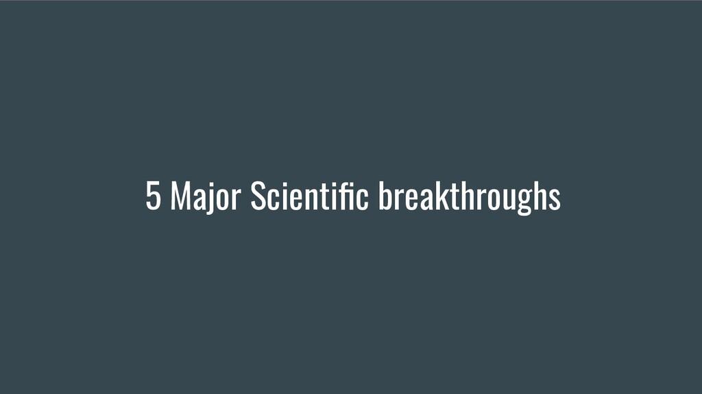 5 Major Scientific breakthroughs