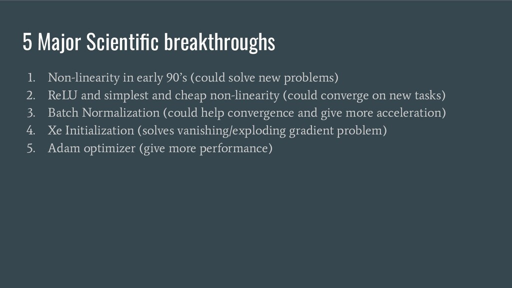 5 Major Scientific breakthroughs 1. Non-linearit...