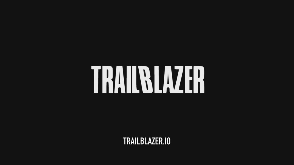 TRAILBLAZER.IO