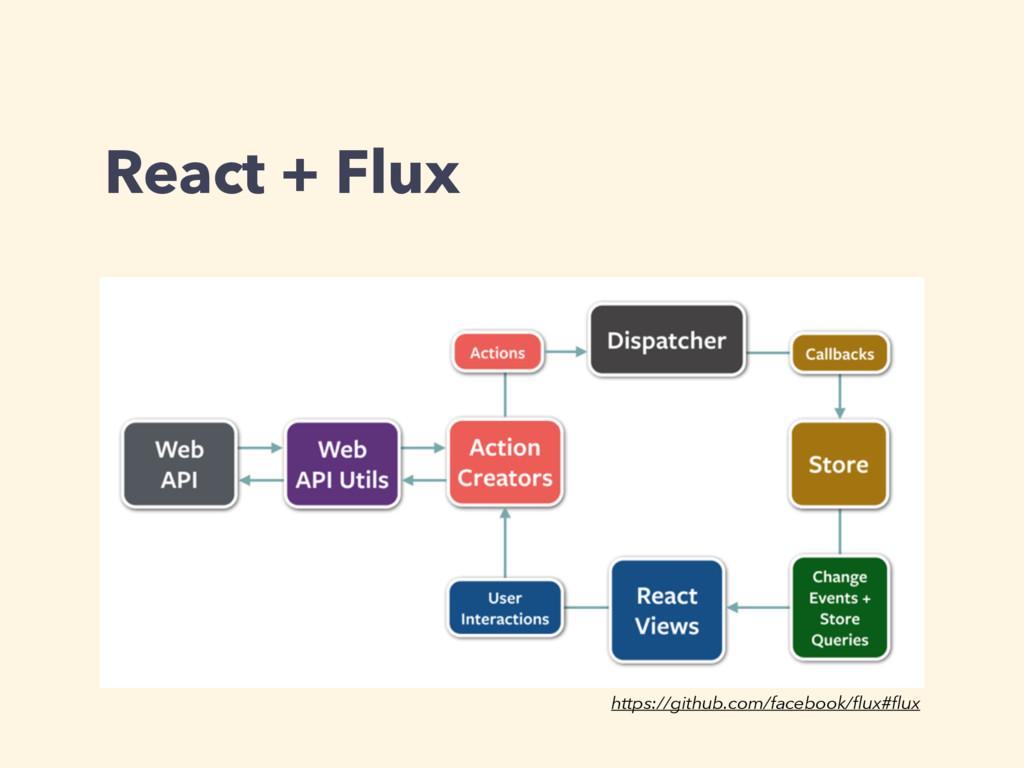 React + Flux https://github.com/facebook/flux#flux