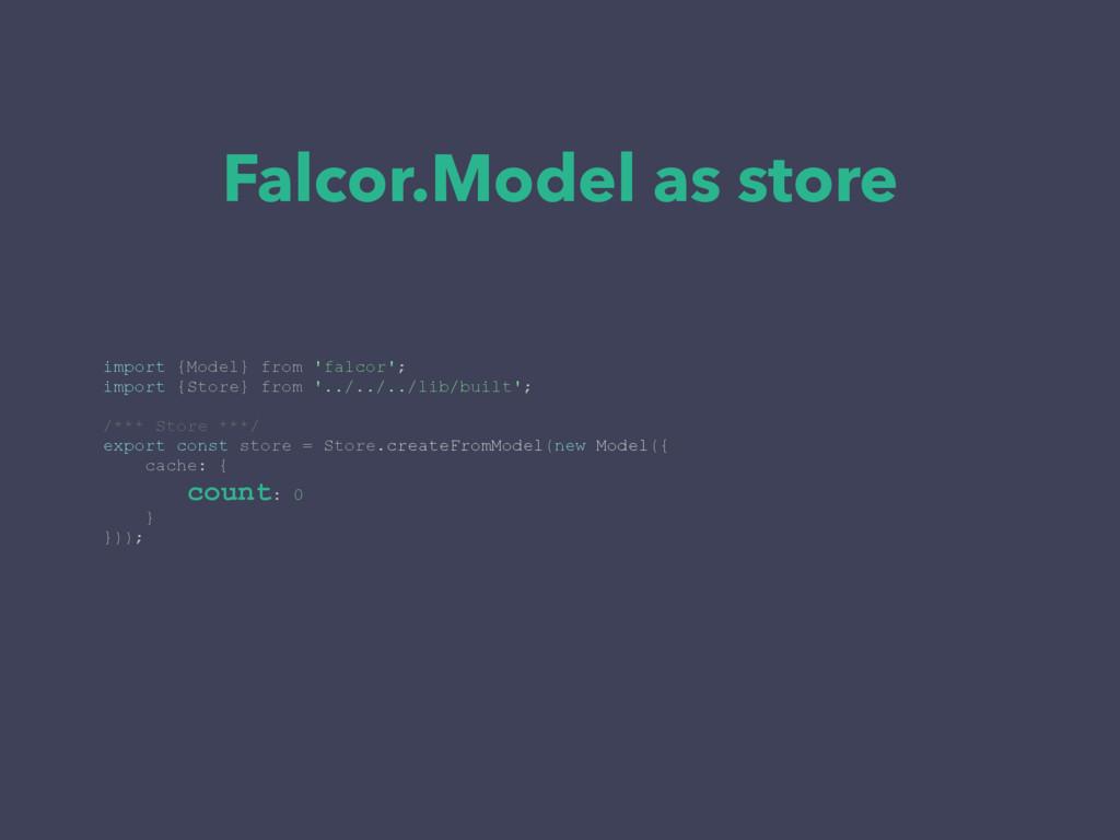 Falcor.Model as store import {Model} from 'falc...
