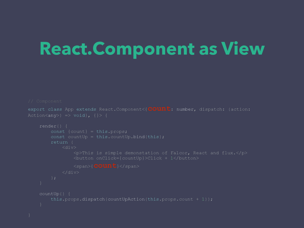 React.Component as View // Component export cla...