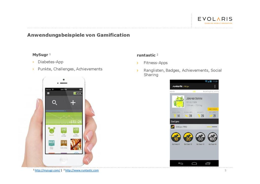 5 Anwendungsbeispiele von Gamification MySugr 1...