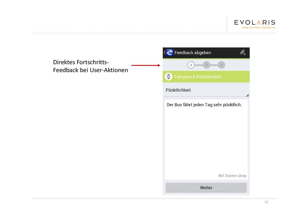 10 Direktes Fortschritts- Feedback bei User-Akt...