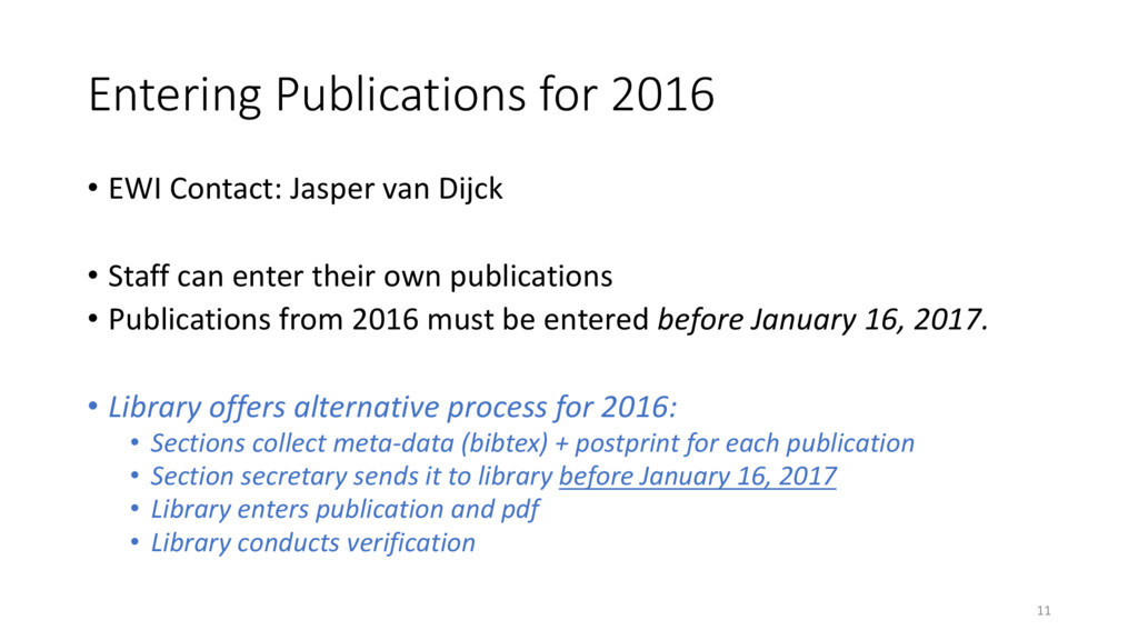 Entering Publications for 2016 • EWI Contact: J...