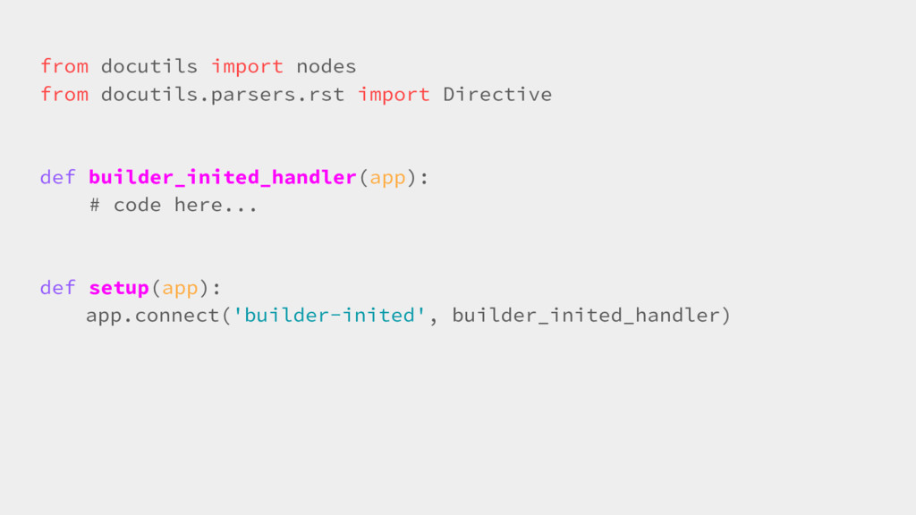 from docutils import nodes from docutils.parser...