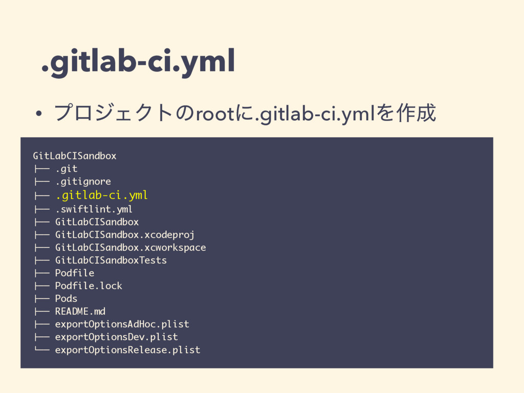 ".gitlab-ci.yml GitLabCISandbox !"""" .git !"""" .gi..."