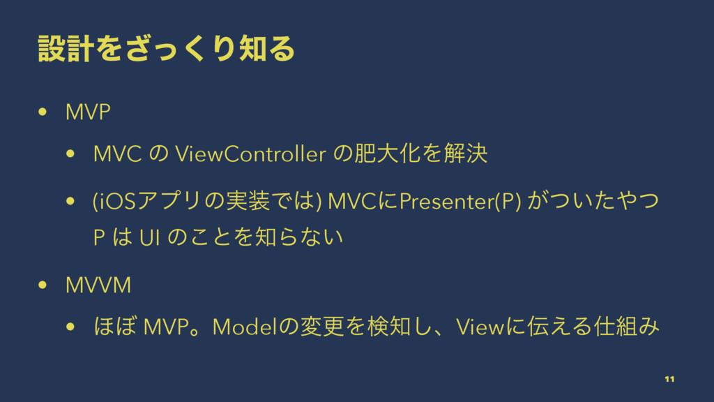 ઃܭΛͬ͘͟ΓΔ • MVP • MVC ͷ ViewController ͷංେԽΛղܾ ...