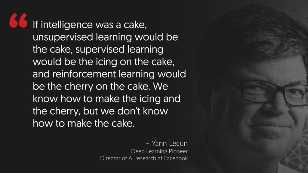 """""""If intelligence was a cake, unsupervised learn..."""