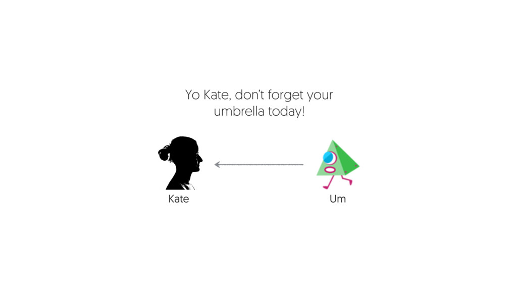 Um Yo Kate, don't forget your umbrella today! K...