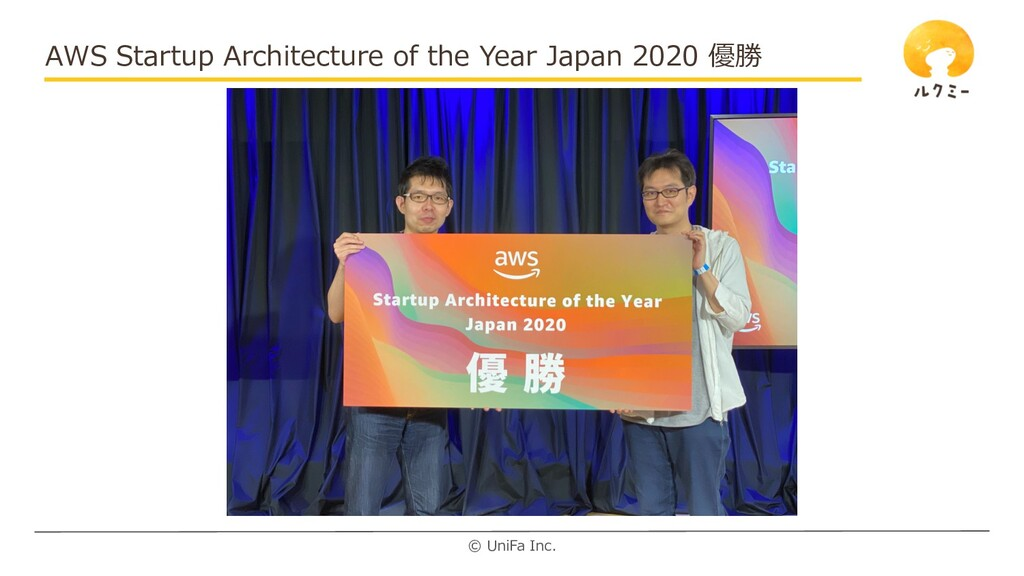 © UniFa Inc. AWS Startup Architecture of the Ye...
