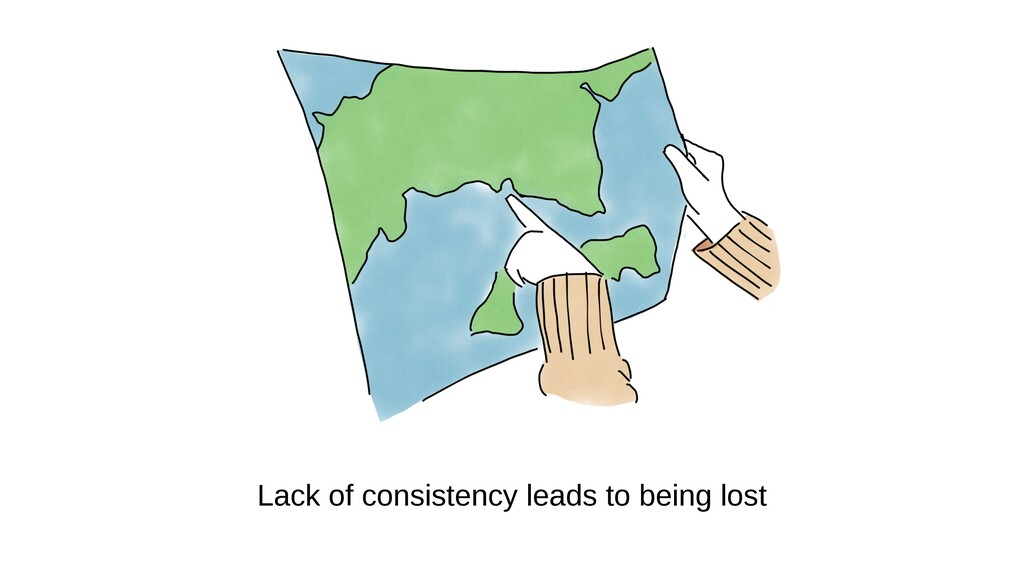 Lack of consistency leads to being lost