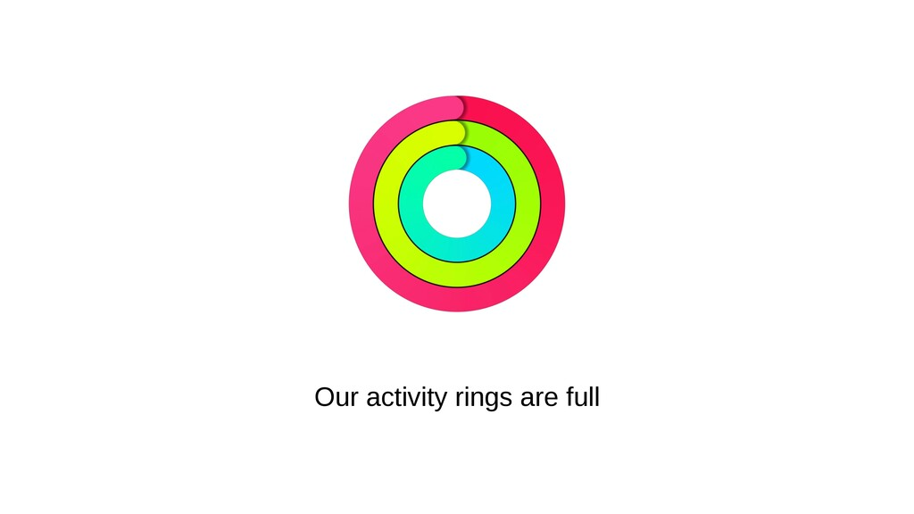 Our activity rings are full