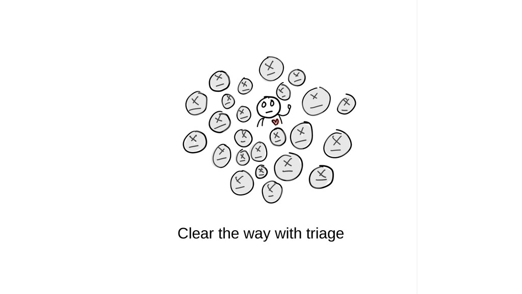 Clear the way with triage