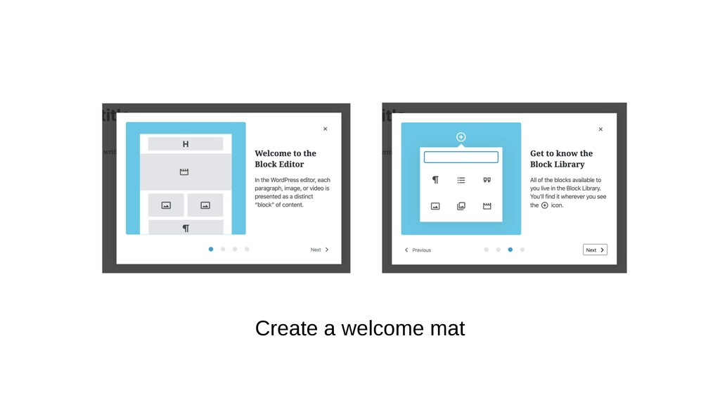 Create a welcome mat