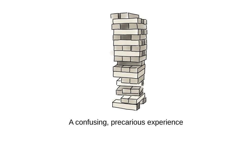 A confusing, precarious experience