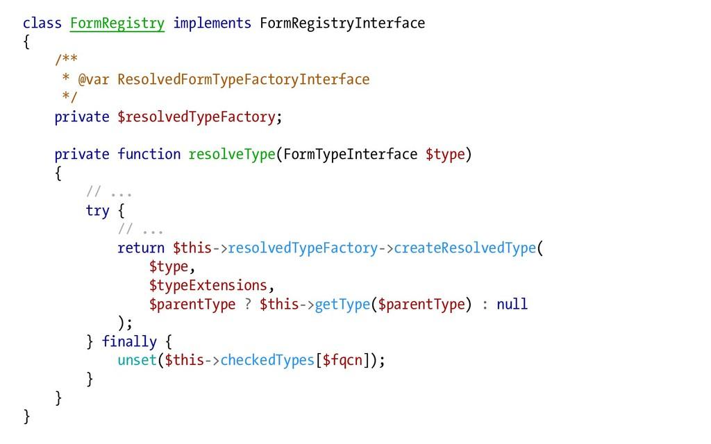 class FormRegistry implements FormRegistryInter...