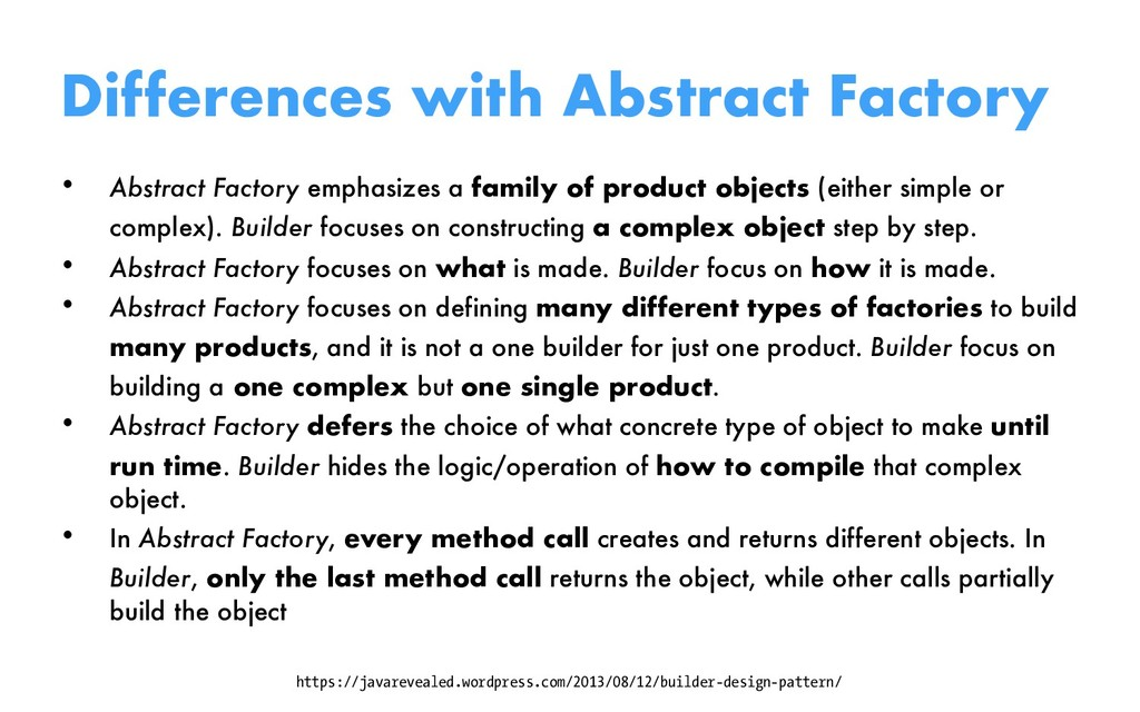 Differences with Abstract Factory • Abstract Fa...