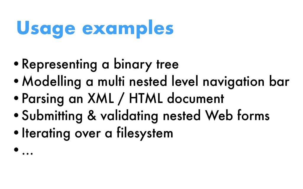 •Representing a binary tree •Modelling a multi ...