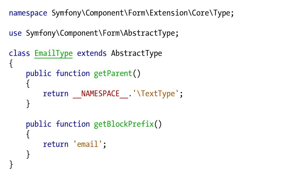 namespace Symfony\Component\Form\Extension\Core...