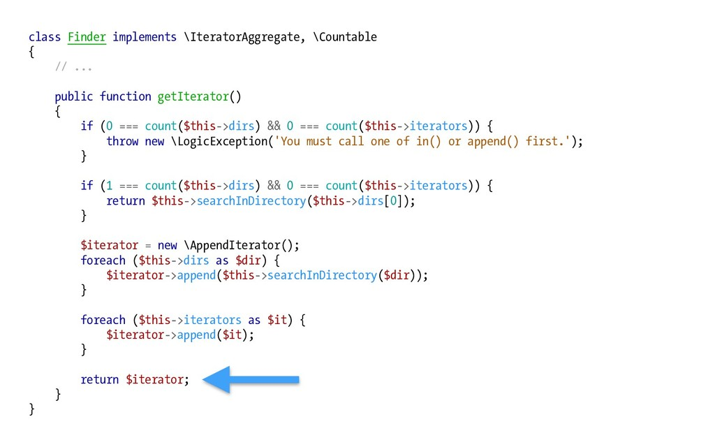 class Finder implements \IteratorAggregate, \Co...