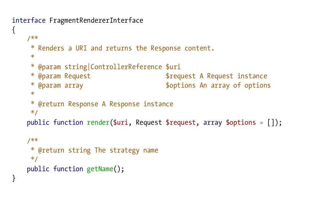 interface FragmentRendererInterface { /** * Ren...