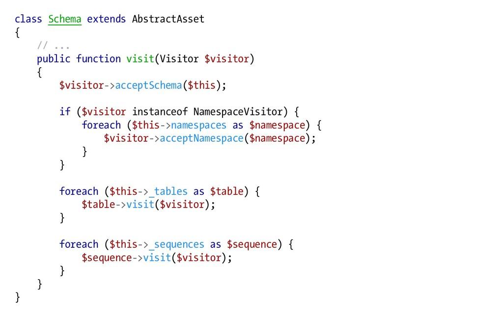 class Schema extends AbstractAsset { // ... pub...