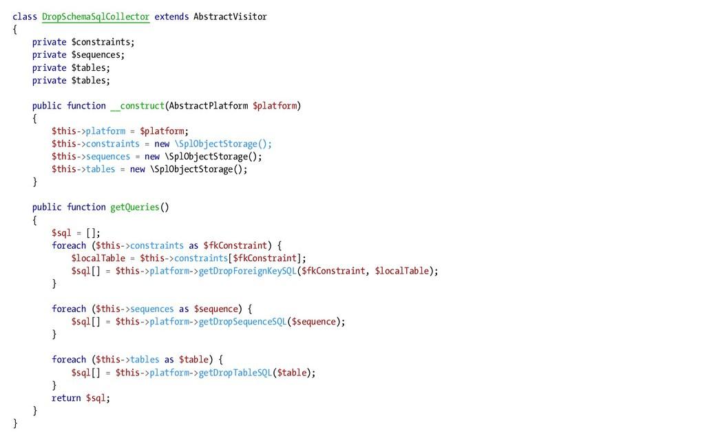 class DropSchemaSqlCollector extends AbstractVi...