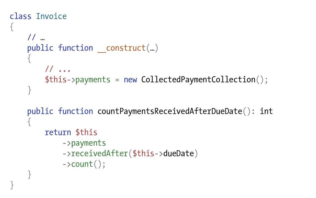 class Invoice { // … public function __construc...