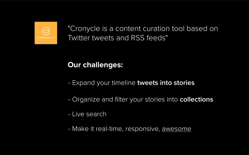 Our challenges: - Expand your timeline tweets i...