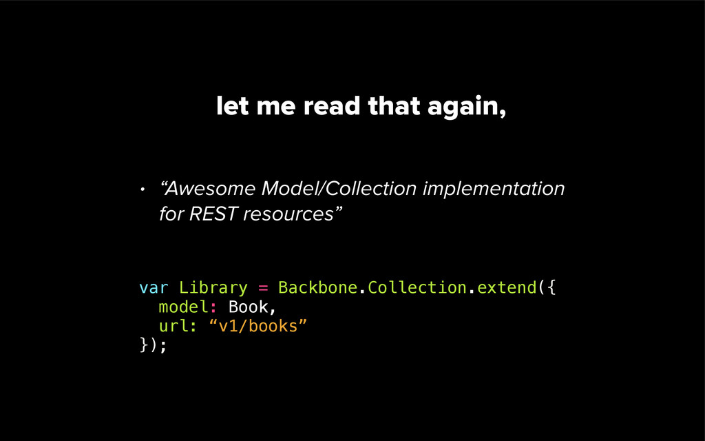 """let me read that again, • """"Awesome Model/Collec..."""