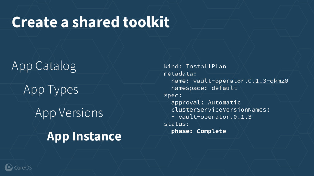 Create a shared toolkit App Catalog App Types A...