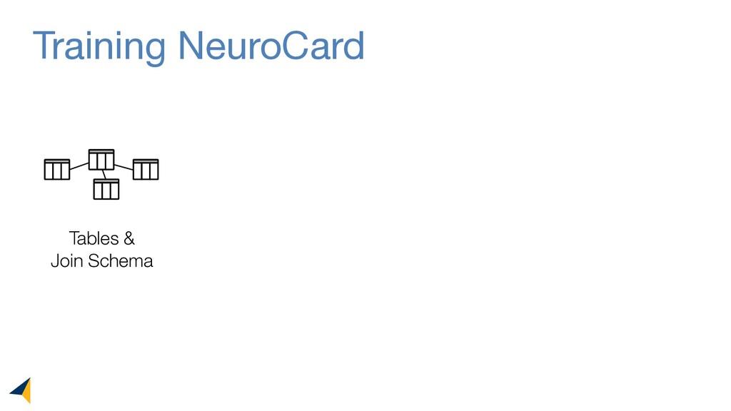 Training NeuroCard Tables & Join Schema