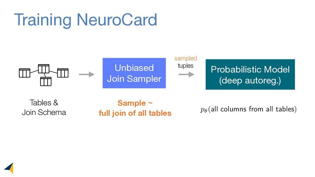 Training NeuroCard Tables & Join Schema Unbiase...