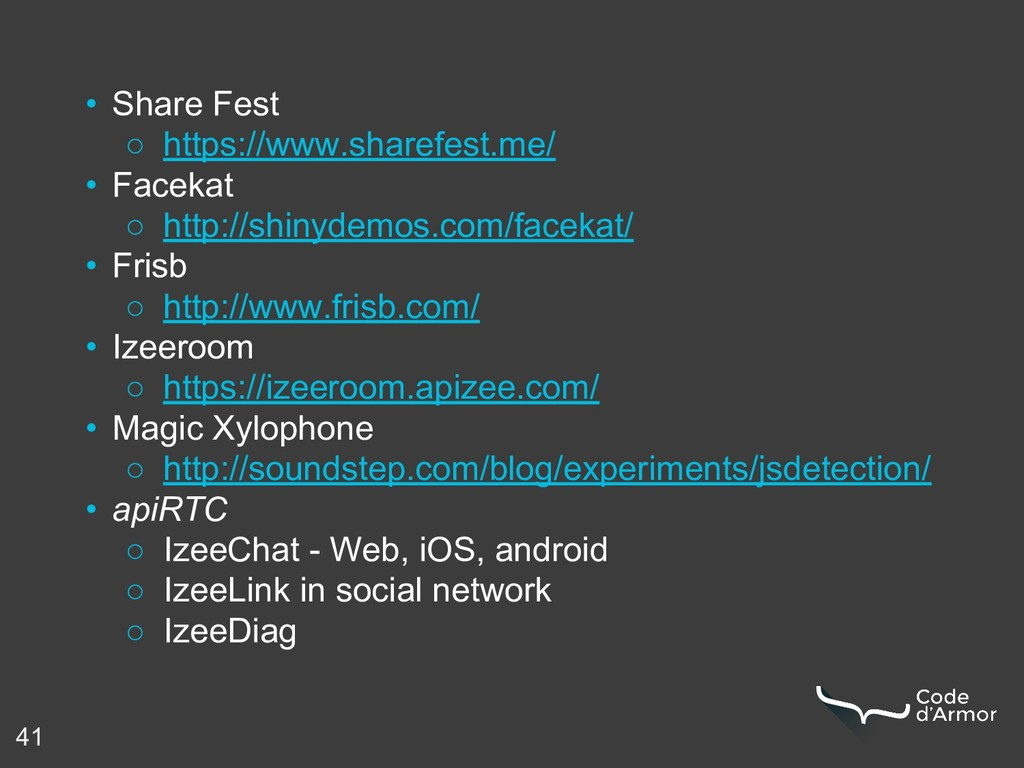 • Share Fest ○ https://www.sharefest.me/ • Face...