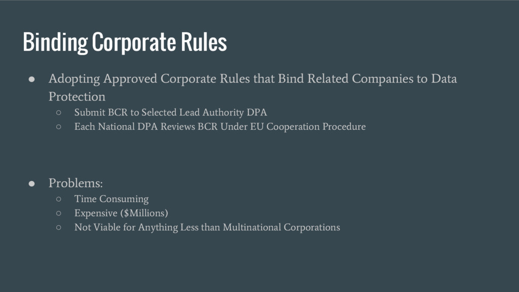 Binding Corporate Rules ● Adopting Approved Cor...
