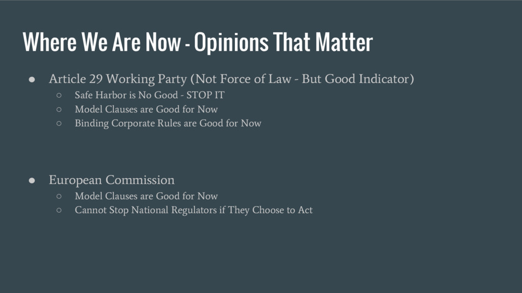 Where We Are Now - Opinions That Matter ● Artic...