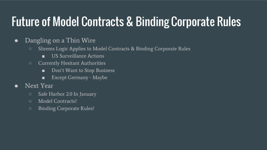 Future of Model Contracts & Binding Corporate R...