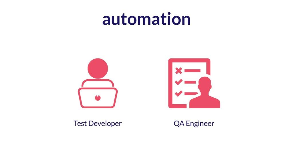 automation QA Engineer Test Developer