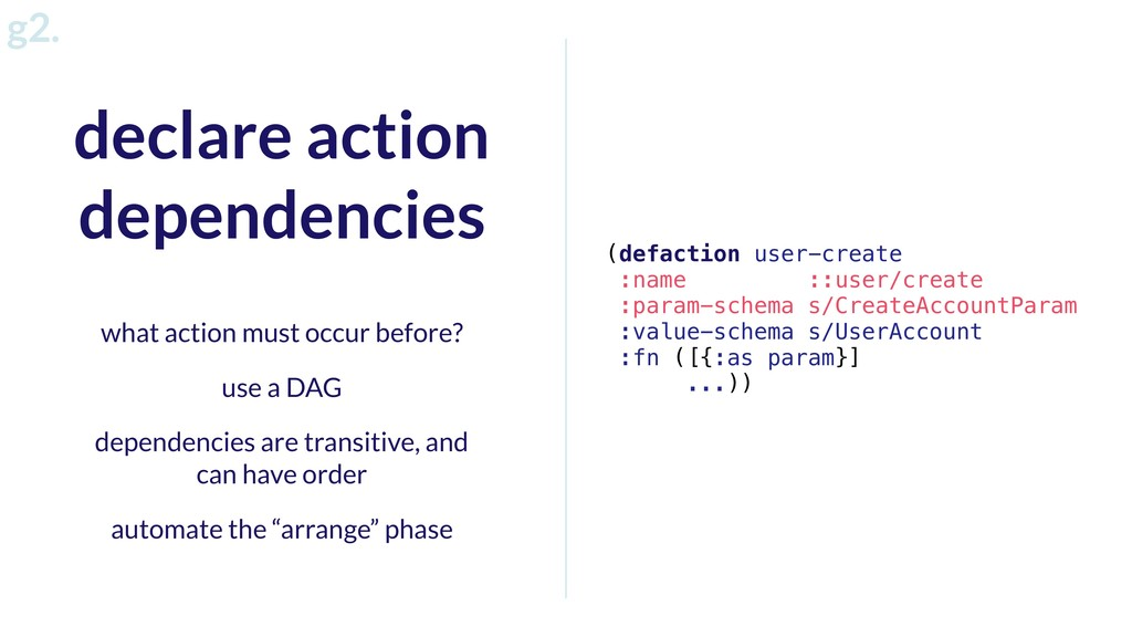 g2. (defaction user-create :name ::user/create ...