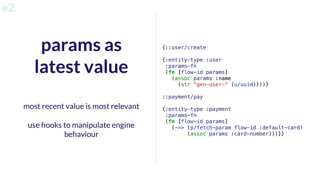 params as latest value most recent value is mos...