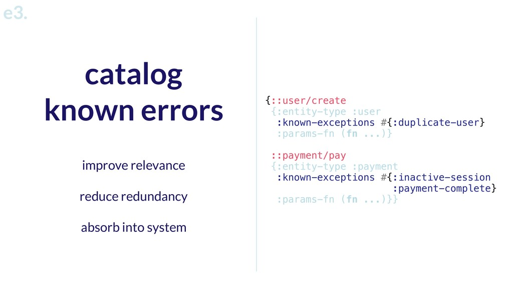 catalog known errors improve relevance reduce r...