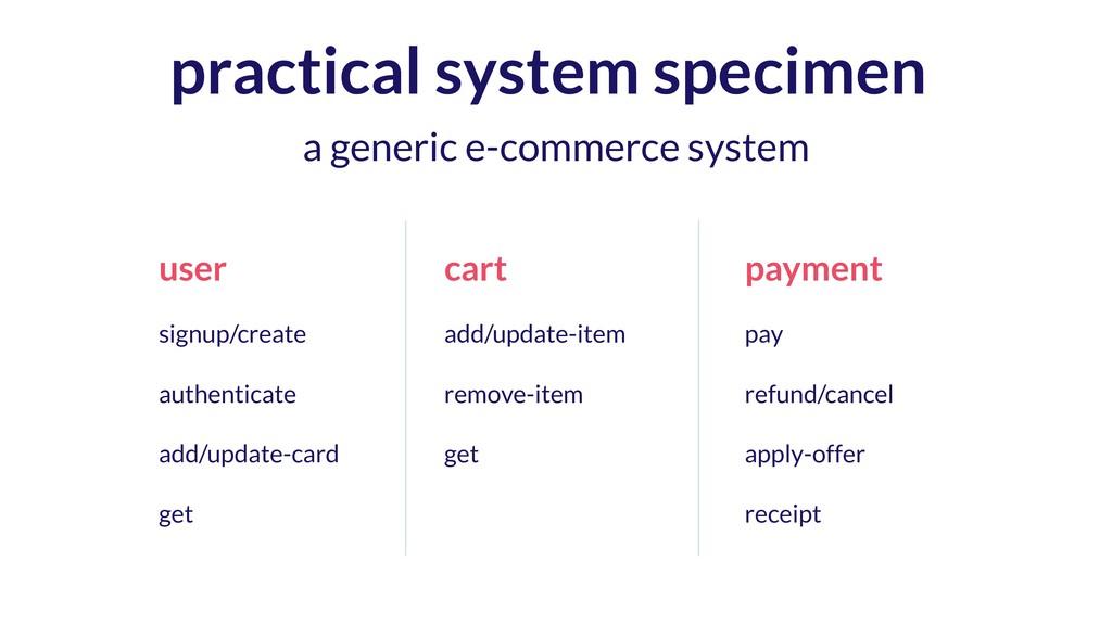 practical system specimen user signup/create au...